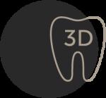 Zahn mit 3 D Symbol